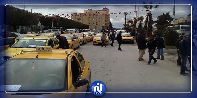 سليانة: أصحاب ''التاكسي الفردي'' يحتجّون أمام مقر الولاية