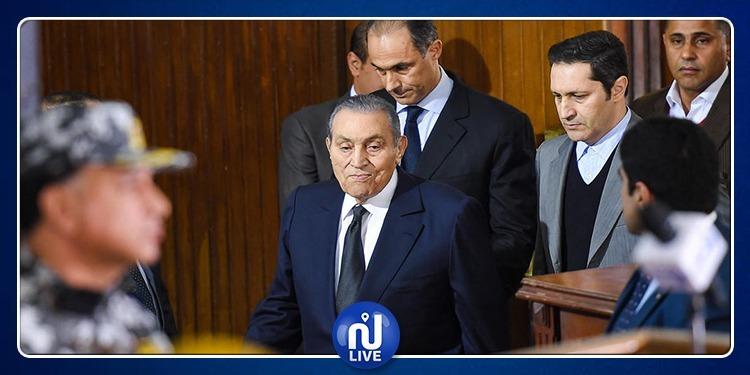 مبارك يدلي بشهادته: مسلحون قدموا من غزة لتخليص سجناء حماس والإخوان