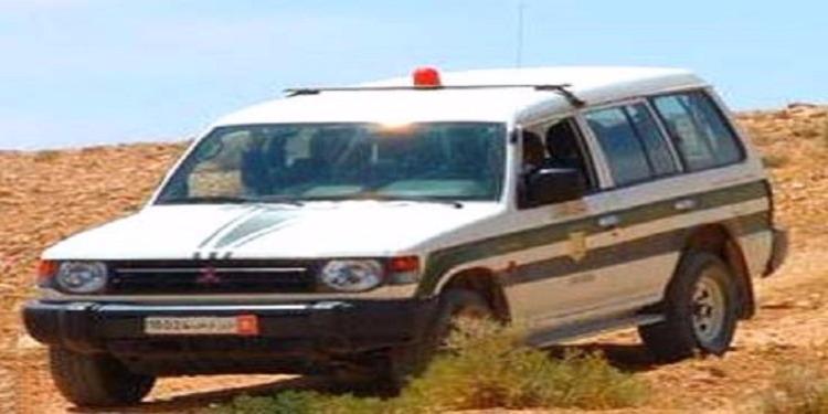 قبلي : حادث مرور وإصابة 3 أعوان في دورية أمنية
