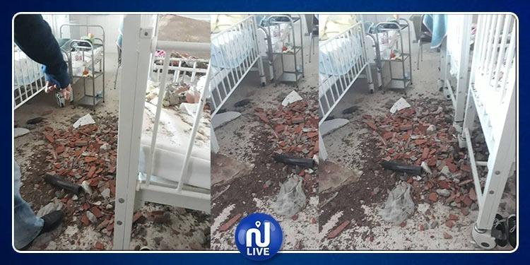 فتح تحقيق في حادثة سقوط جزء من سقف قسم الأطفال بمستشفى بنزرت