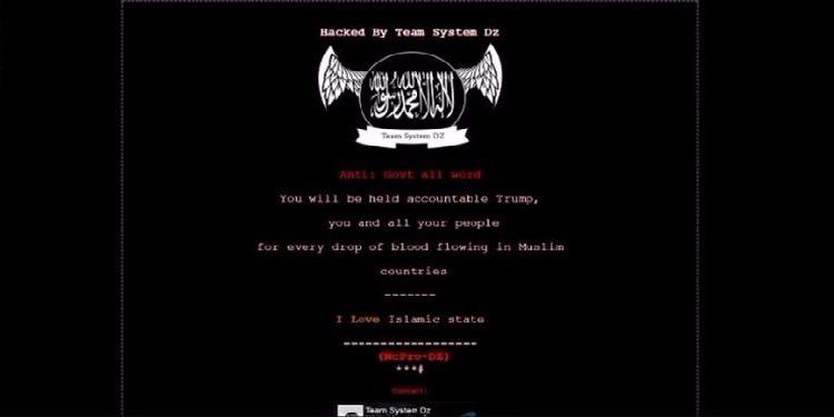 أمريكا:قرصنة مواقع حكومية برسائل مؤيدة لداعش