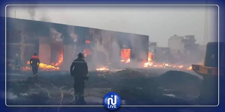 Sousse: Un incendie ravage une usine de fabrication de palettes