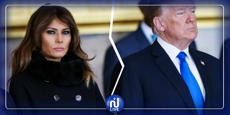 Trump force sa femme à sourire en public (vidéo)