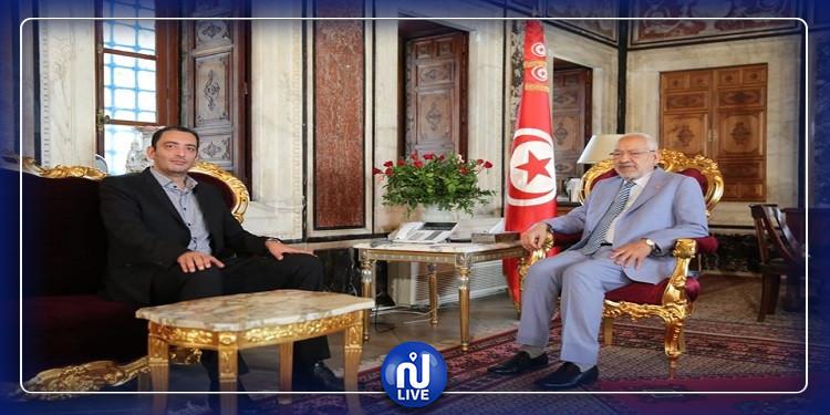 Rached Ghannouchi reçoit Yassine Ayari