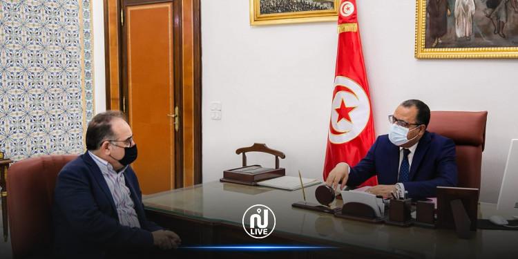 Le chef du gouvernement reçoit le ministre des Affaires sociales et ministre de la Santé par intérim