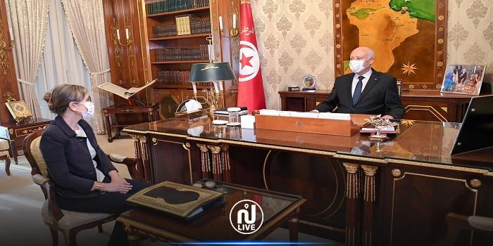 Kaïs Saïed reçoit la Cheffe du gouvernement