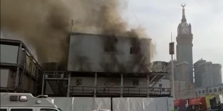 السعودية :  السيطرة على حريق قرب الحرم المكي (فيديو)