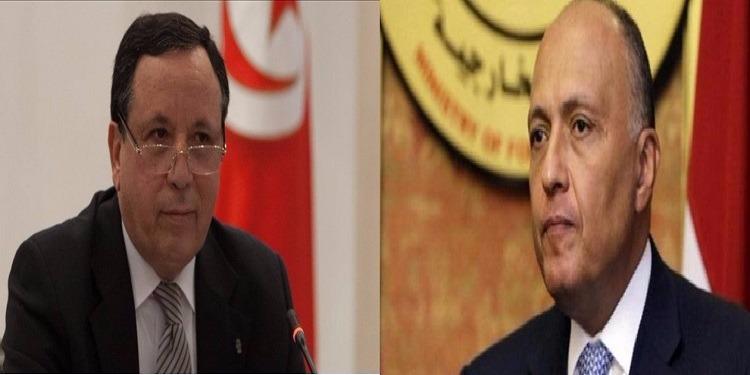 مستجدات الوضع الليبي وسبل تفعيل المبادرة التونسية حول ليبيا محور لقاء وزير الخارجية مع نظيره المصري