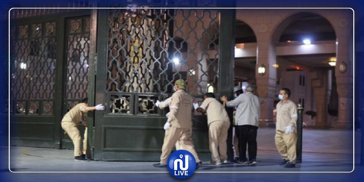 افتتاح المسجد النبوي بعد إغلاق طويل (فيديو+صور)