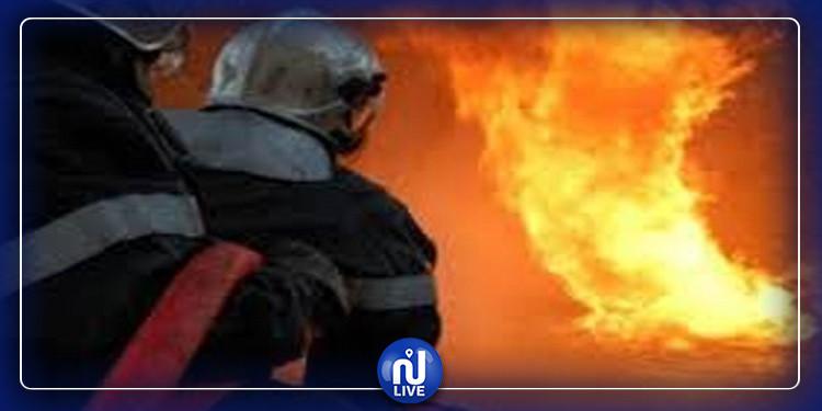 حريق يعطل حركة المرور بمدخل الضاحية الجنوبية