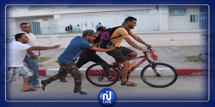 في رحلة ال1900 كلم على دراجته الهوائية: ابن حاجب العيون يحط الرحال في نابل  للتعريف بمشاكل جهته