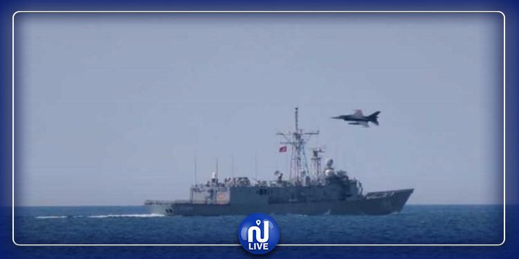 تركيا تجري مناورات  عسكرية ضخمة في البحر الابيض المتوسط