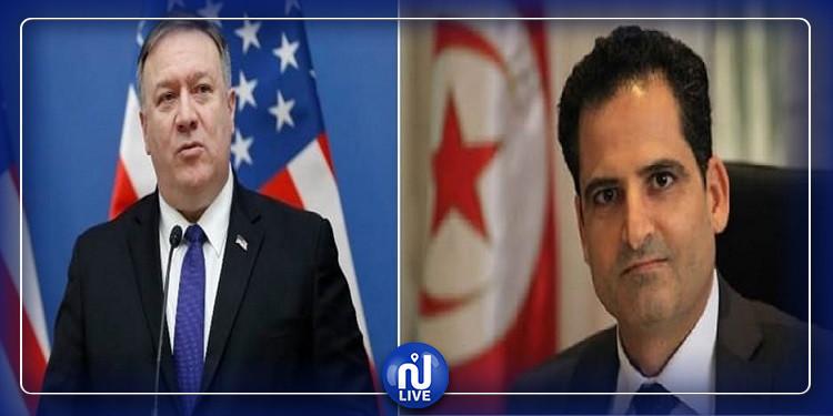 وزير الخارجية يتلقى مكالمة هاتفية من نظيره الأمريكي