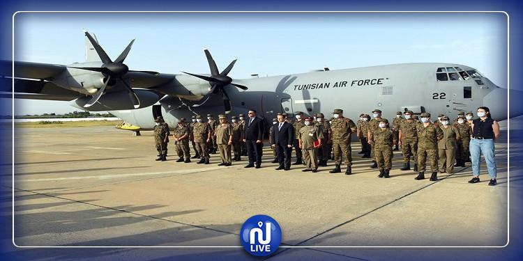 ارسال طائرة عسكرية محملة  بتجهيزات طبية لتركيز مستشفى ميداني بمدينة الحامة