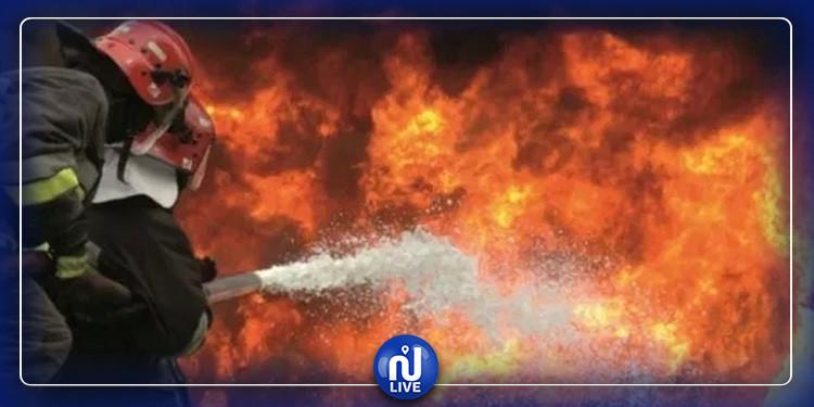 زغوان: اندلاع حريق قرب محطة النقل
