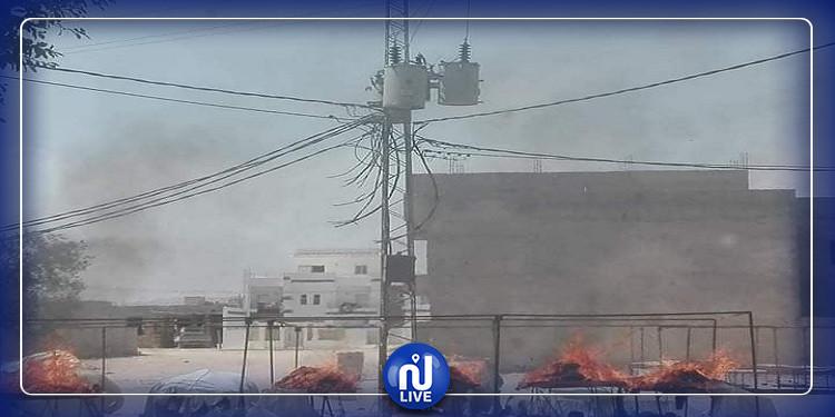 الرقاب: اندلاع حريق في سوق ''الفريب'' (صور)