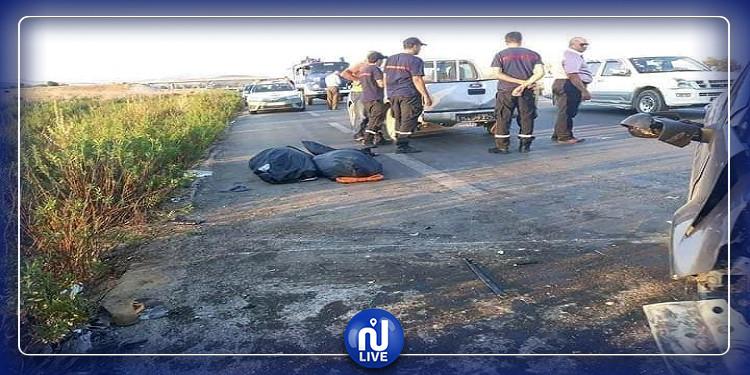باجة: ارتفاع حصيلة قتلى حادث مرور وادي الزرقاء