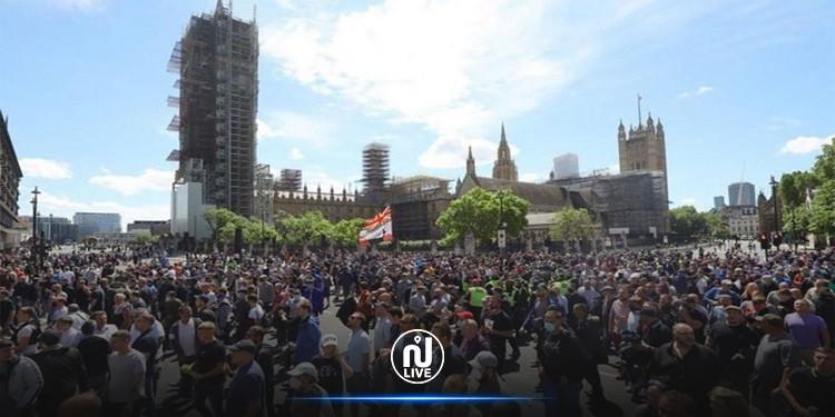 احتجاج عنيف مناهض للإغلاق في لندن