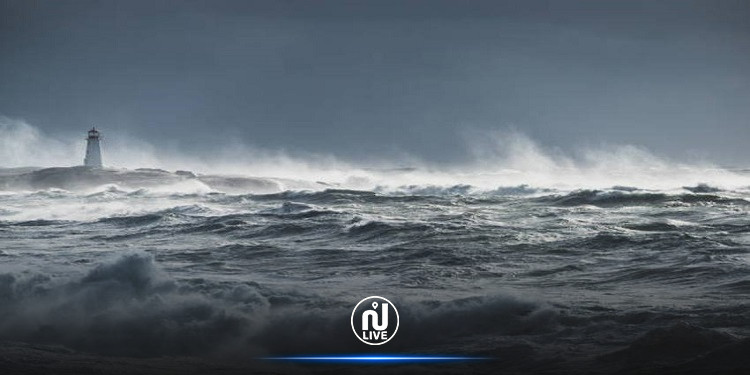 عاصفة نادرة في البحر المتوسط