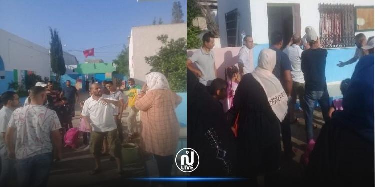 نابل: أولياء تلاميذ مدرسة ديار بن سالم ينفذون وقفة احتجاجية