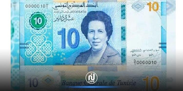 صندوق النقد يسلط الضوء على  الورقة النّقدية التي تكرّم الطبيبة توحيدة بالشّيخ