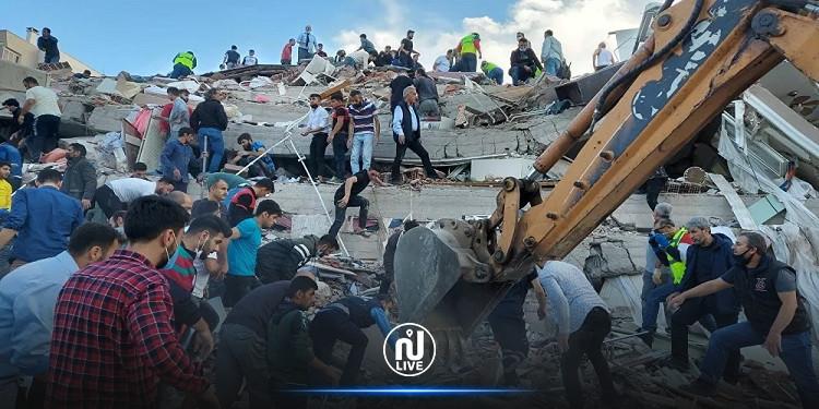 تركيا: ارتفاع عدد قتلى زلزال إزمير المدمّر
