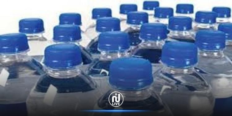 سيدي بوزيد: حجز 23 الف لتر من المياه المعدنية