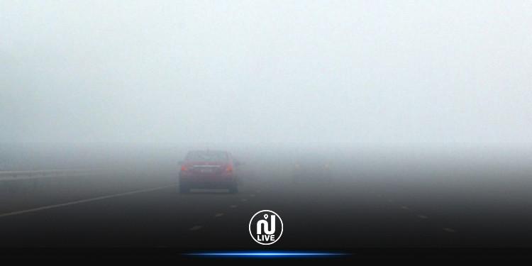 تحذير من وجود ضباب كثيف يحجب الرؤية بالطريق السيارة أ 03
