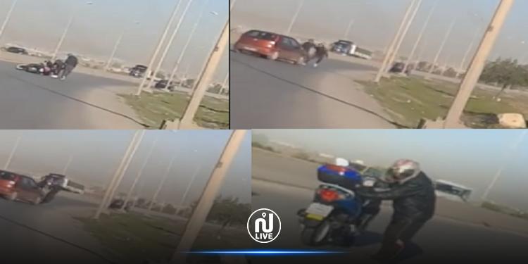 العاصمة: ''براكاج'' في وضح النهار لصاحب دراجة ومواطن ينقذ الموقف (فيديو)