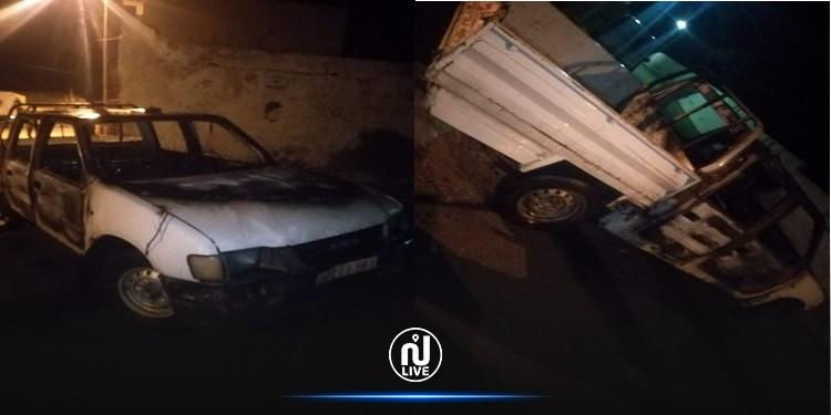 الهوارية: ايقاف 4 شبان عمدوا إلى حرق سيارة ادارية واصابة عون أمن