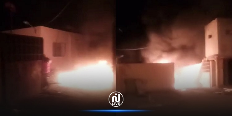 المزونة: رمي اطارات مطاطية مشتعلة داخل سور مركز الحرس الوطني