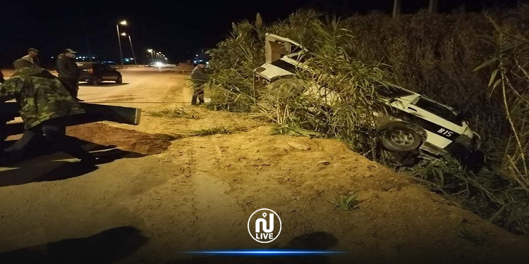 القيروان: انقلاب سيارة أمنية خلال المواجهات