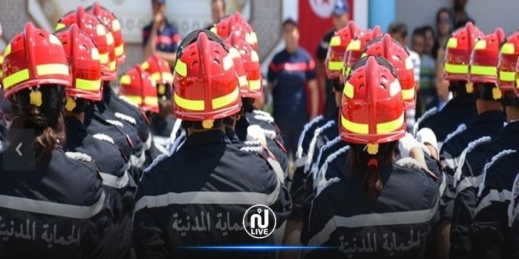 المنستير :  34 إصابة في صفوف أعوان الحماية المدنية وغلق مقر الإدارة