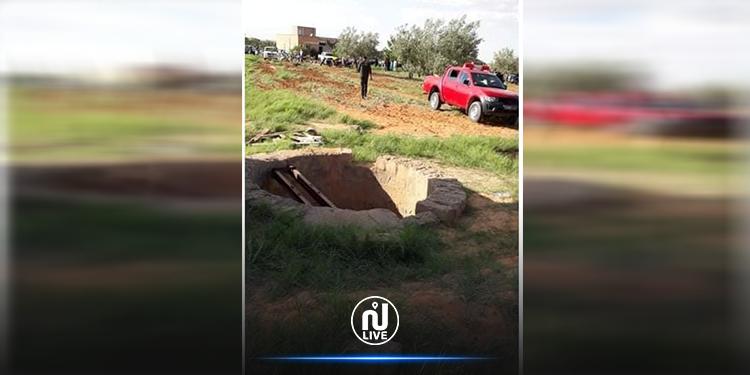 أولاد حفوز : انتشال جثة طفل من بئر بعمق 45 مترا (صور)