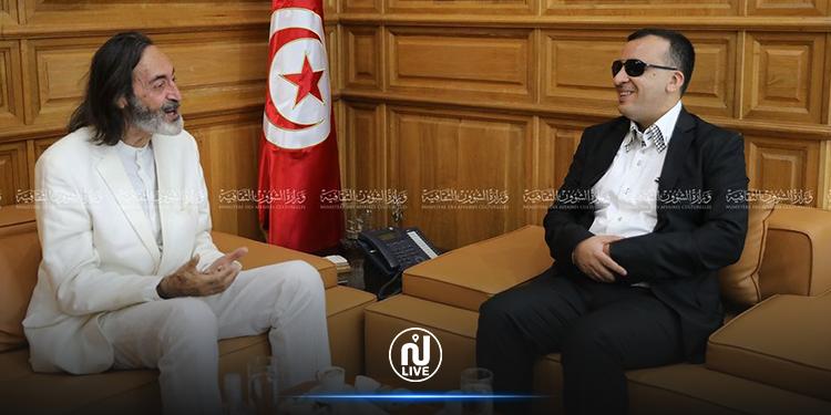 واقع المسرح والسينما في تونس  محور لقاء وزير الثقافة بالفنان هشام رستم