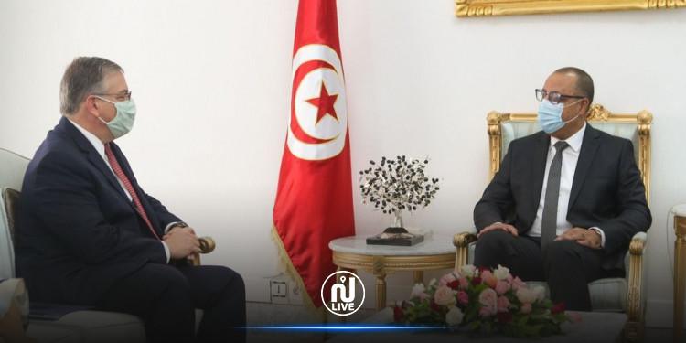 دعم الاستثمارات الأمريكية في تونس في لقاء المشيشي بالسفير الأمريكي