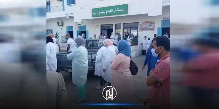 سيدي بوزيد : احتقان إثر تسجيل  9 إصابات بكورونا  في صفوف أعوان الصحة