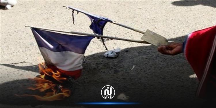 الزهروني : إيقاف شاب  من أجل حرق العلم الفرنسي
