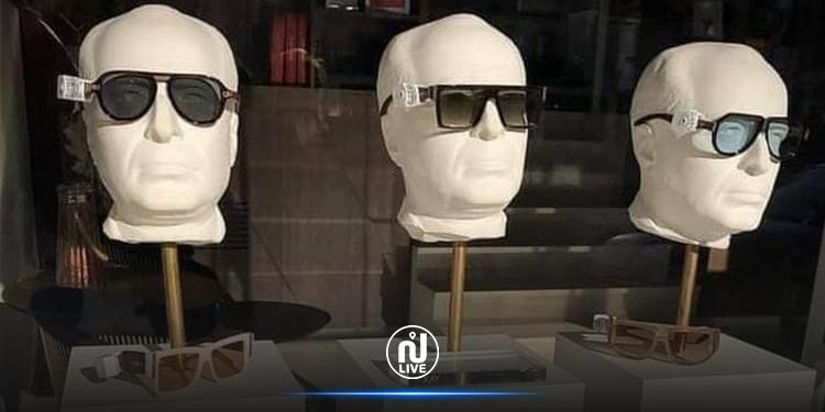 محل تجاري  بتونس يعرض نظارات شمسية على مجسمات الزعيم  الحبيب بورڨيبة (صور)