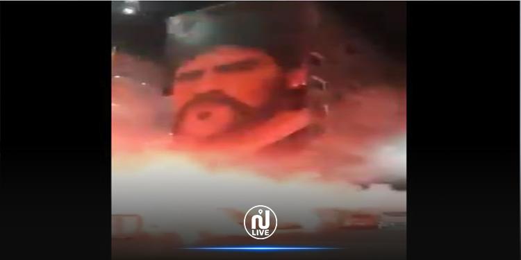 نابولي تودع مارادونا بالشماريخ (فيديو)