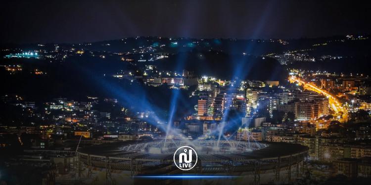 الأضواء تتلألأ في  ملعب سان باولو  تخليدا  للأسطورة مارادونا