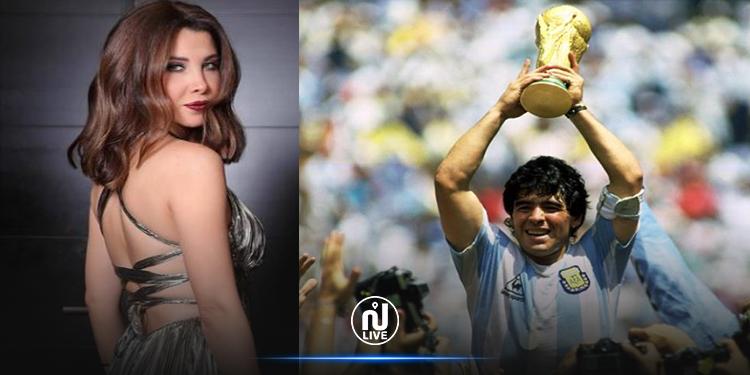 نانسي عجرم تنعى مارادونا :  العالم فقد رياضيًا حقيقيًا !