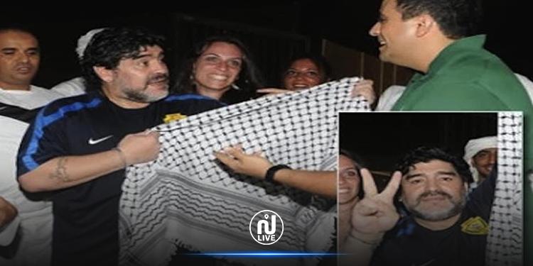 مارادونا من أكبر المدافعين عن القضية الفلسطينية (صور + فيديو)