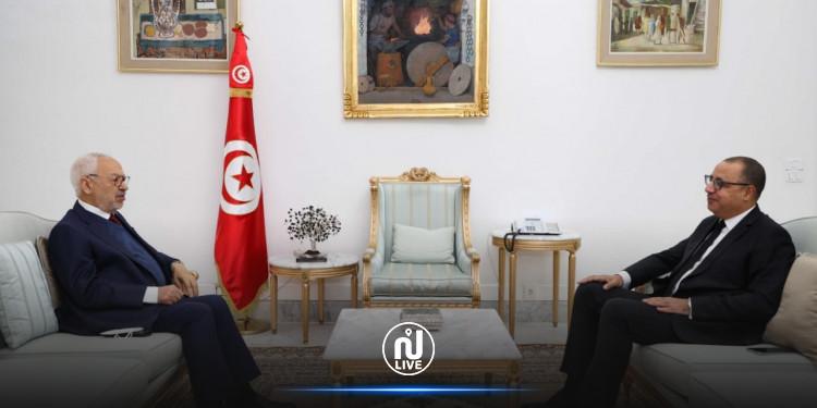 خدمة مصلحة المواطن التونسي محور لقاء المشيشي والغنوشي