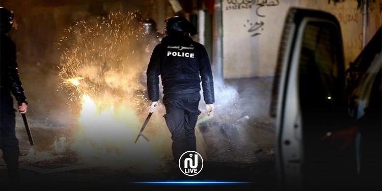 مناوشات القصرين : إيقافات جديدة و 7 إصابات في صفوف الأمن