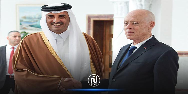 فحوى مكالمة هاتفية بين سعيد وأمير قطر