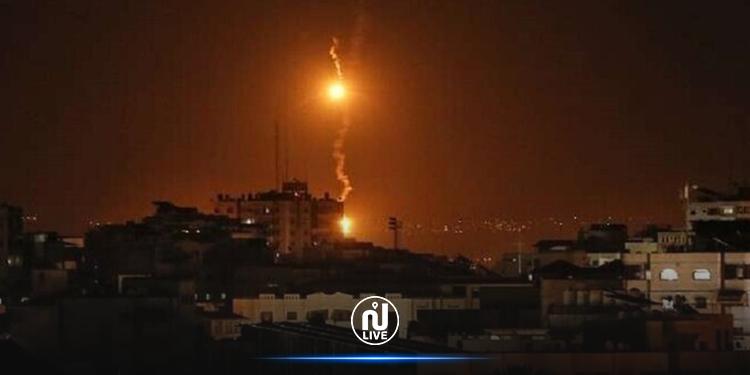 الطيران الصهيوني يقصف موقعين وسط قطاع غزة