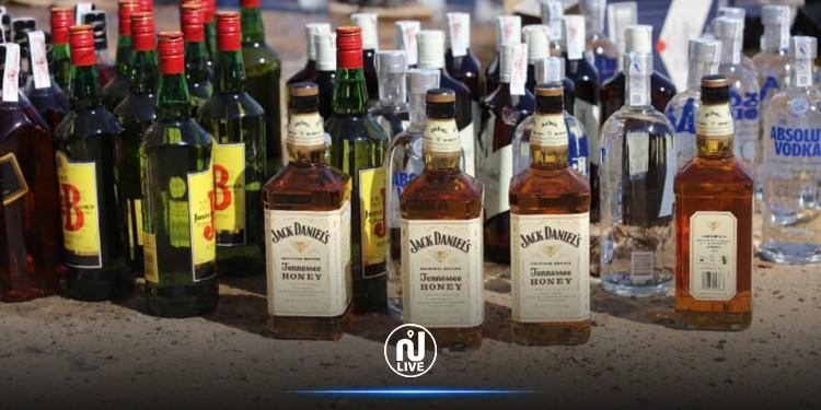 إتلاف  كميات كبيرة من المشروبات الكحولية