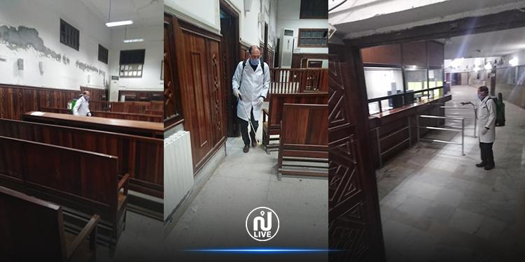 نقابة العدلية تطالب وزارة العدل بتعقيم المحاكم بالولايات المشمولة بالحجر الصحي