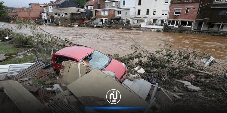 ارتفاع  حصيلة ضحايا  الفيضانات في بلجيكا